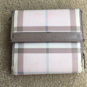 Pink Burberry wallet